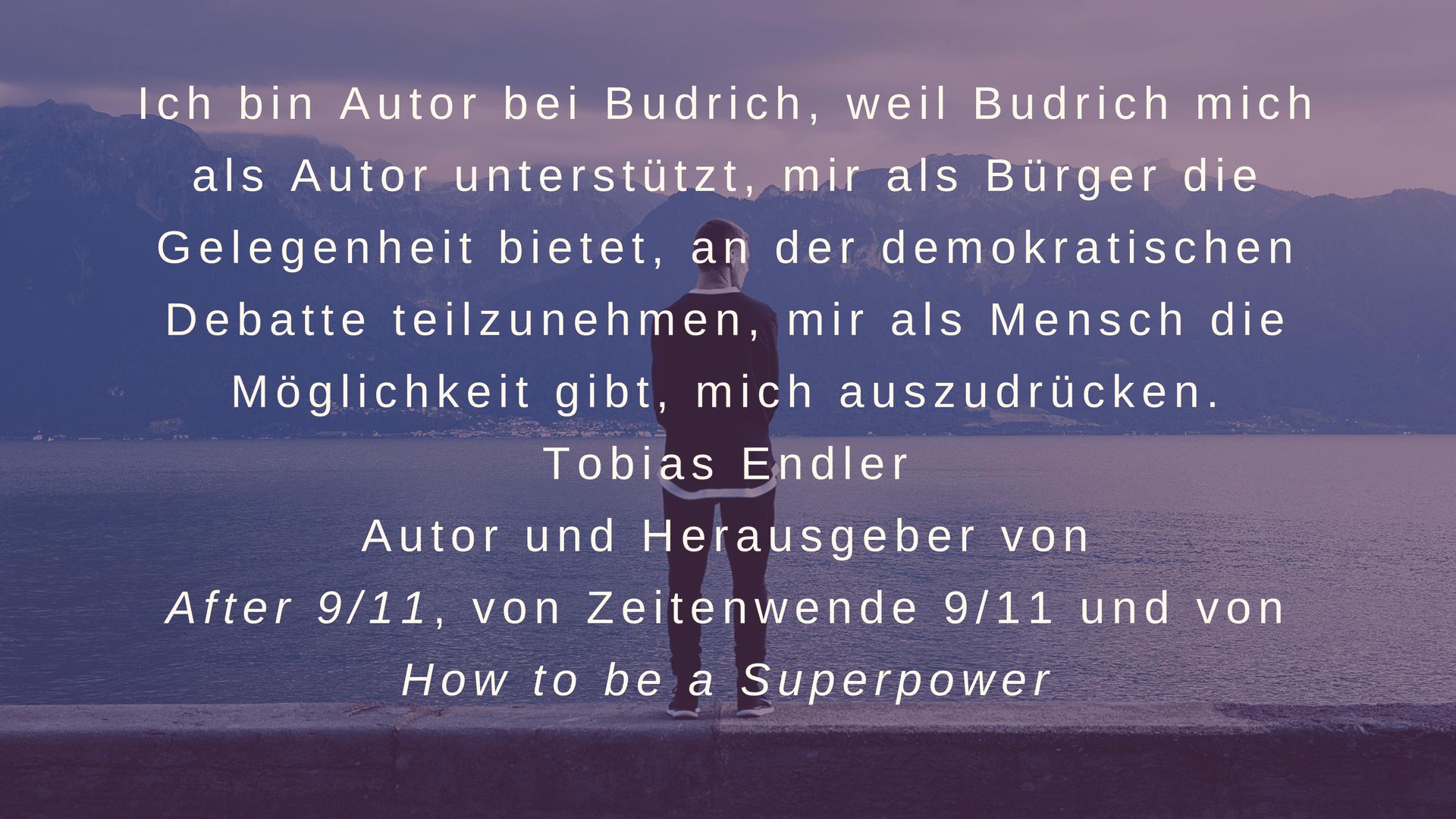 Tobias Endler empfiehlt Budrich