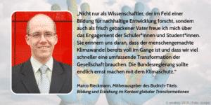 Zitat Klimaschutz Marco Rieckmann