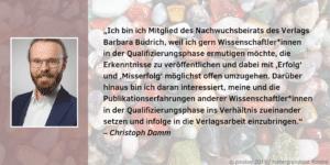 Feedback Nachwuchsbeirat Christoph Damm