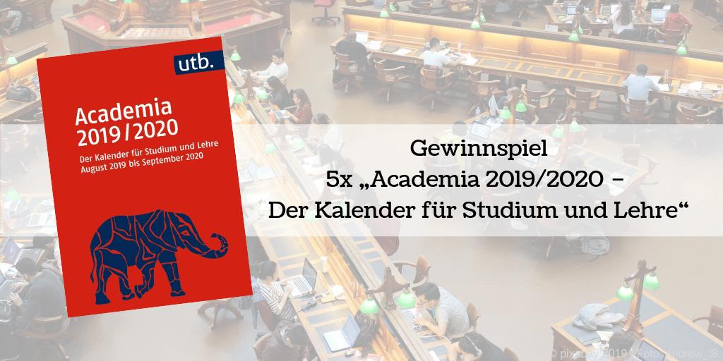 Gewinnspiel 5x Academia Kalender 2019