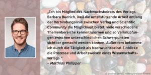 Nachwuchsbeirat Matthias Philipper Feedback