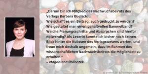 Nachwuchsbeirat Magdalena Polloczek Feedback