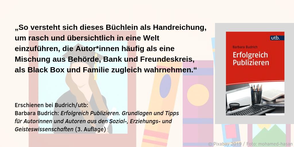Barbara Budrich Erfolgreich Publizieren Zitat 3