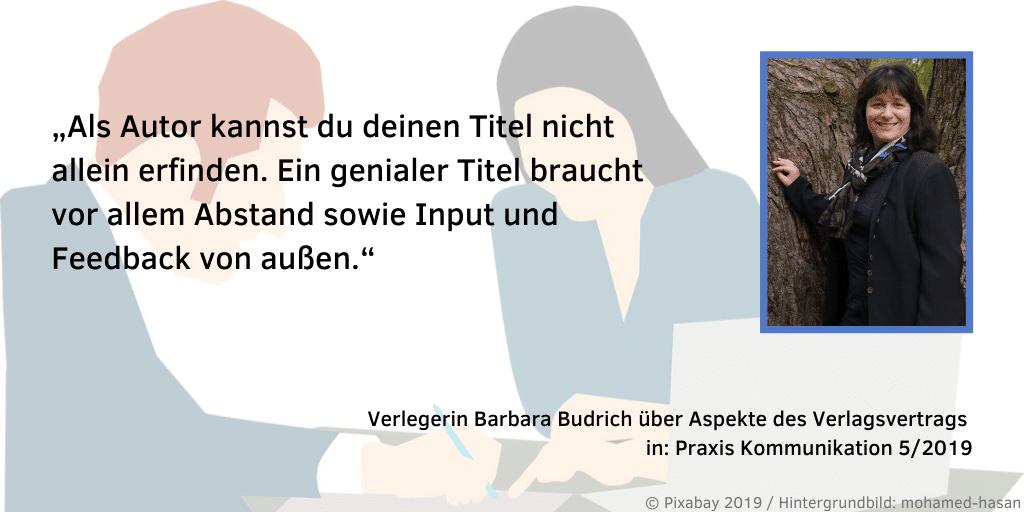 Barbara Budrich Praxis Kommunikation 5 2019