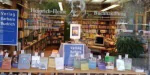 Heinrich-Heine-Buchhandlung Essen Schaufenster Verlag Barbara Budrich