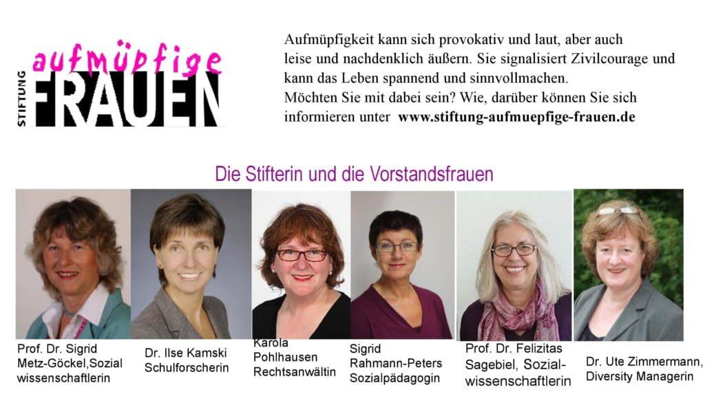 Stiftung Aufmüpfige Frauen 1