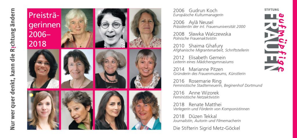Stiftung Aufmüpfige Frauen Preisträgerinnen