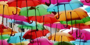bunte Regenschirme © Pixabay 2020 / Foto: heberhard