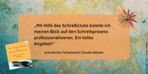 Feedback Schreibclub Claudia Althann