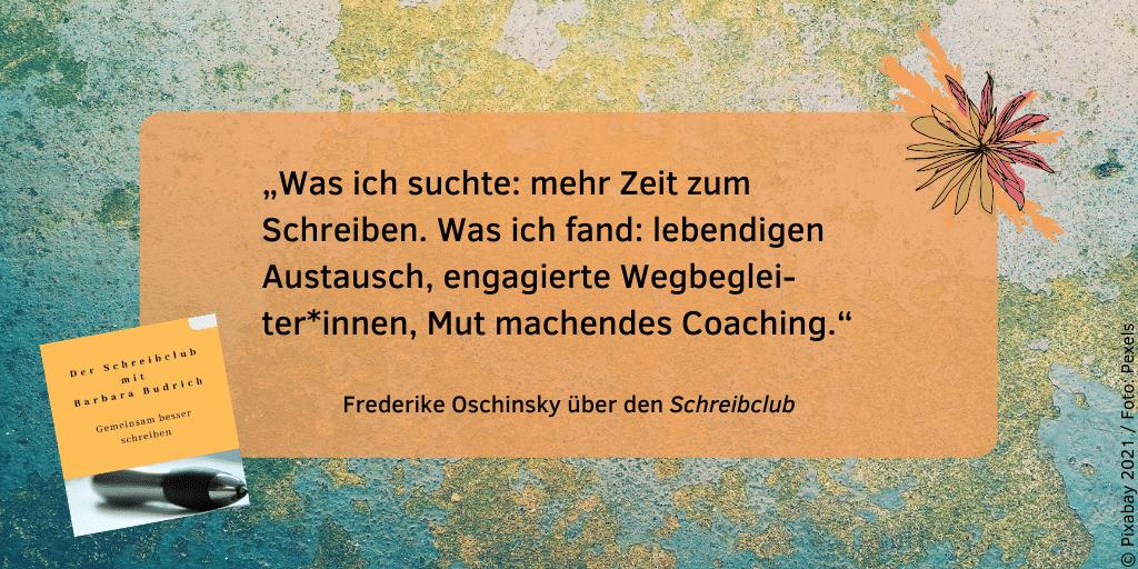 Feedback Schreibclub Frederike Oschinsky 1