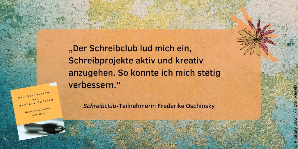 Feedback Schreibclub Frederike Oschinsky 2