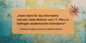 Feedback Publishing Insights Stefanie Hoffmann