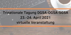 Banner DGSA-Tagung 2021