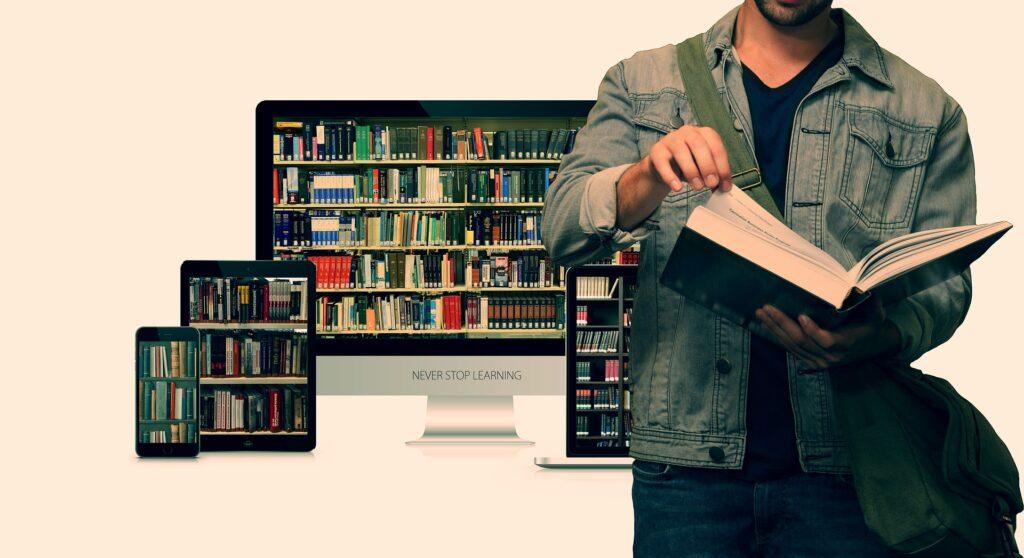 digitale Bibliothek © Pixabay 2021 / Foto: geralt