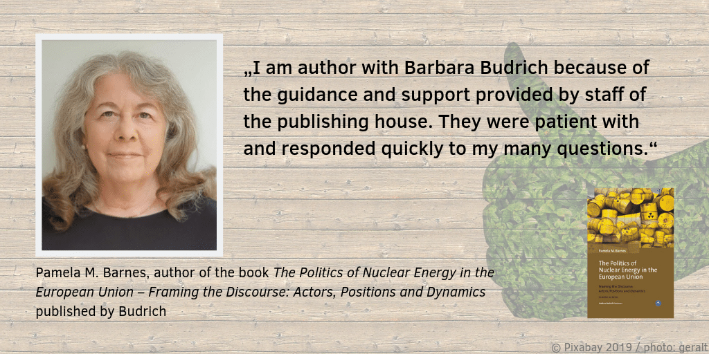 Feedback about publishing with Budrich Pamela M. Barnes